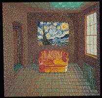 Couch with Van Gogh